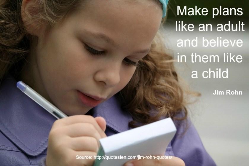 Jim Rohn Quote - Make Plans